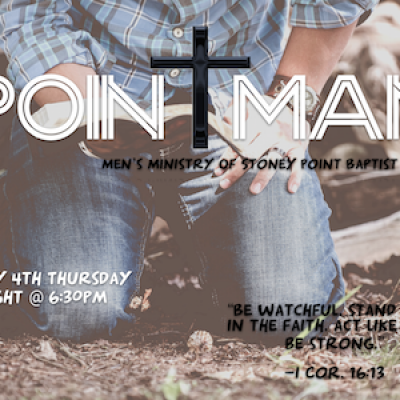 TACO NIGHT- POINTMAN Men's Bible Study @ SPBC - Stoney Point